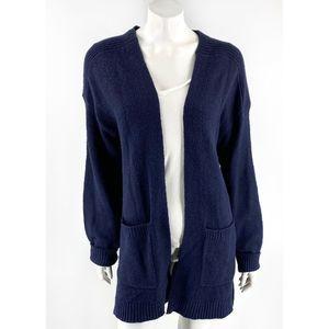 Treasure Bond Cardigan Sweater Sz Large Navy NEW